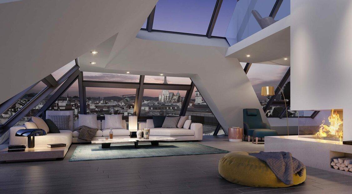Grand Kinsky - Luxus Erstbezug Penthouse - Top 22 Rosalie