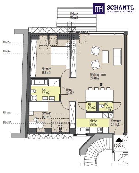 Worauf warten Sie? Perfekt aufgeteilte Dachgeschoss-Wohnung auf einer Ebene! Auf ins schöne Kutschkerviertel! /  / 1180Wien / Bild 8