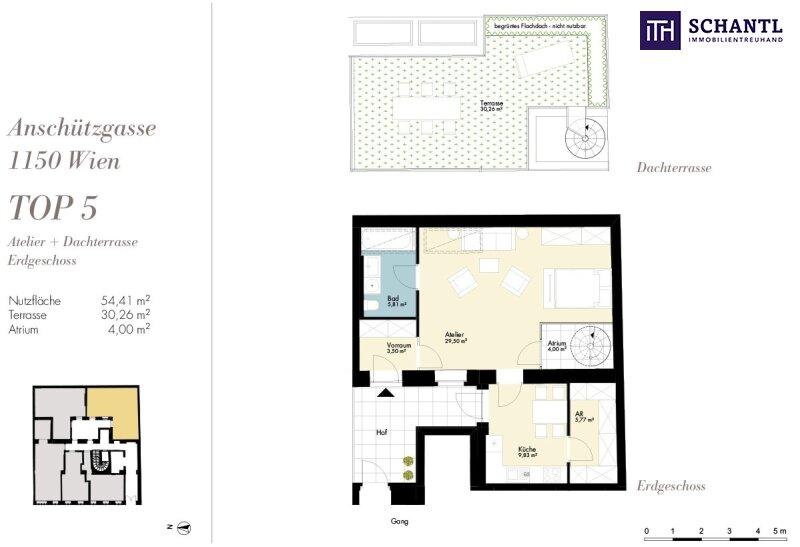Ein Platz für Individualisten + Riesige Dachterrasse + TOP-Ausstattung + Rundum saniertes Haus + Perfekte Anbindung und Infrastruktur + Ruhelage! Worauf warten Sie? /  / 1150Wien / Bild 5