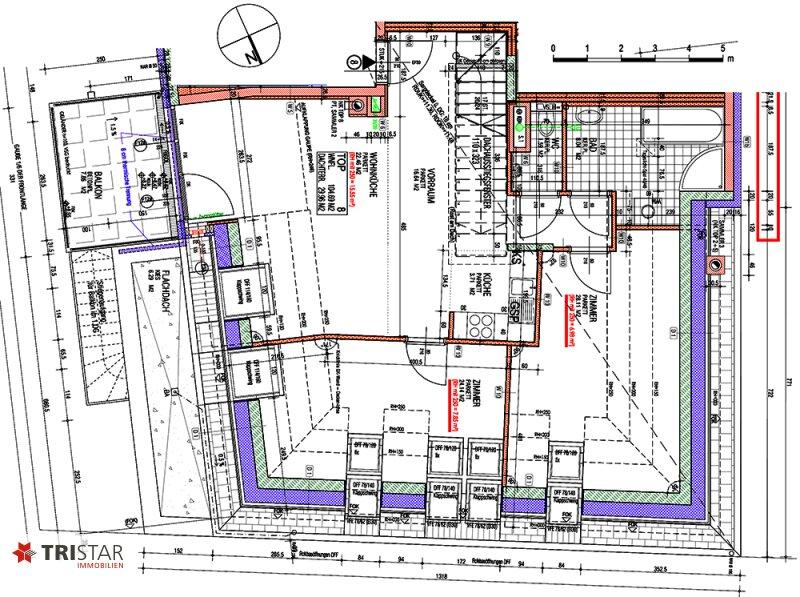 NEU! ++ ERSTBEZUG: Dachgeschosswohnung in 1130 Wien, Neubau, 3 Zimmer + Balkon + Dachterrasse mit Wienblick  (Top 8) ++