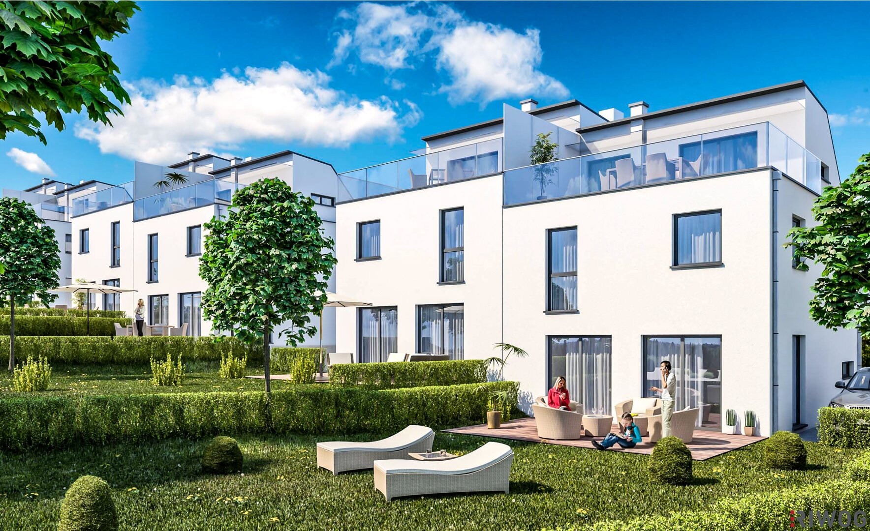 Perlhof exklusiv - Leben im highend Doppelhaus (Projektansicht)