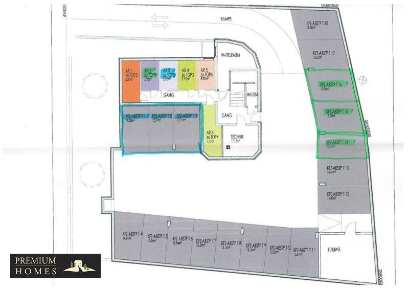 WA Reith i.A. - zu Top 2 Kellerabteil und Tiefgaragen T1,T2,T3