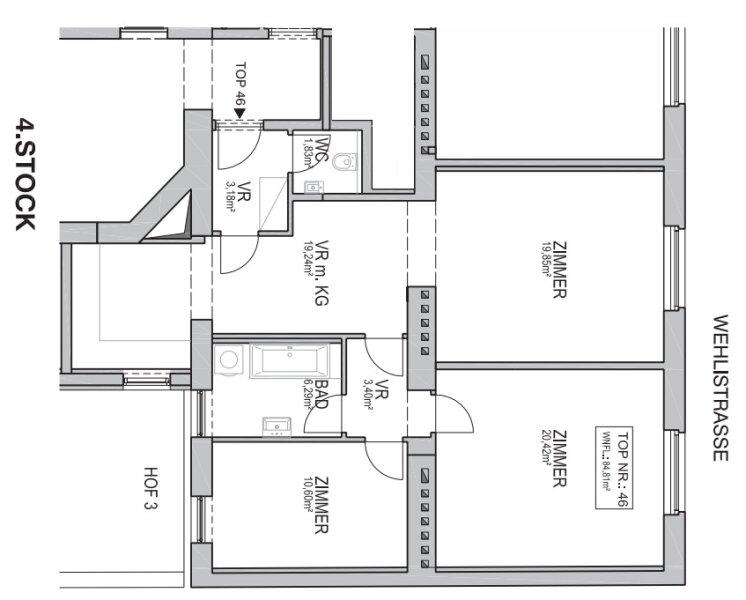 ++NEU++ Hochwertiger 3-Zimmer Altbau-Erstbezug, sehr guter Grundriss! /  / 1200Wien / Bild 16