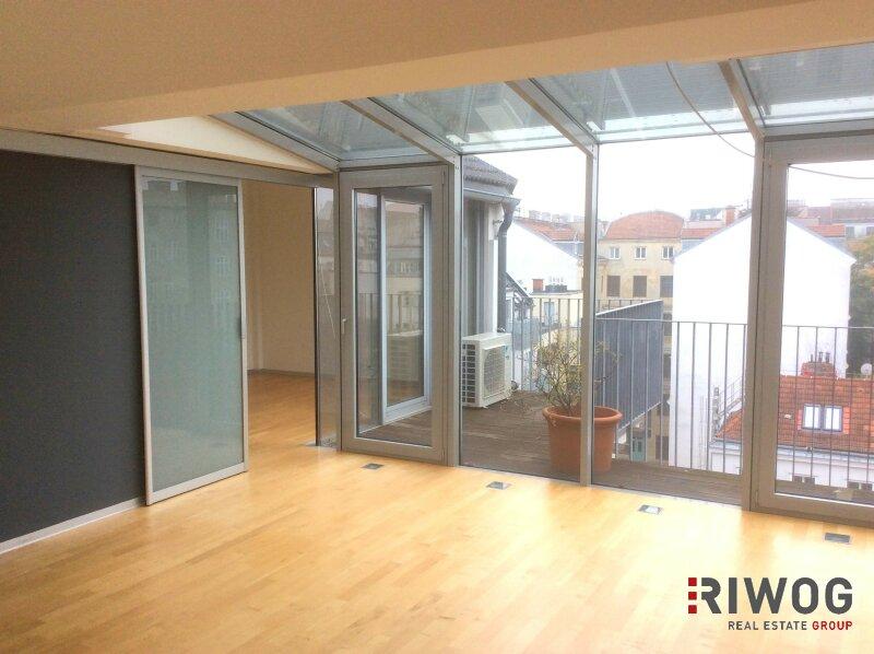 ATEMBERAUBEND - Luxeriös - speziell - Dachgeschoss-Terrassenwohnung in der Neustiftgasse