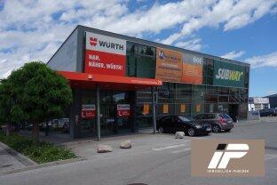 Moderne Geschäftsfläche in frequentierter Bestlage, gut geeignet für Markt oder Logistik