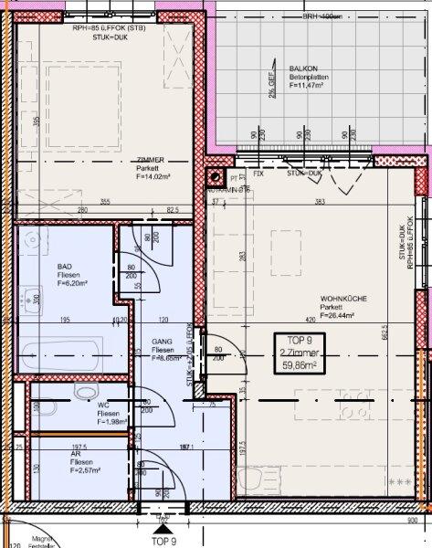 Top 9 - Zwei-Zimmer Wohnung mit Balkon. Wenn Sie hohe Ansprüche ans Wohnen stellen. /  / 2700Wiener Neustadt / Bild 9